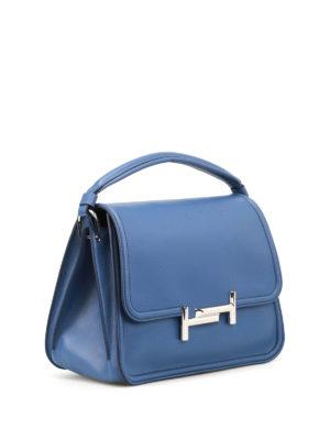 TOD'S: borse a spalla online - Tracolla Double T media blu