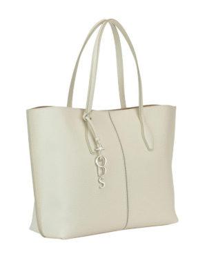 TOD'S: shopper online - Shopper Joy grande in pelle bianca