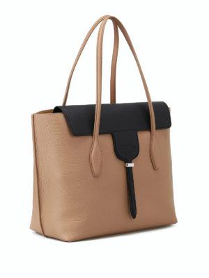 TOD'S: shopper online - Shopper Joy M in pelle a grana
