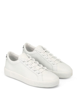 TOD'S: sneakers online - Sneaker in pelle con gommini neri