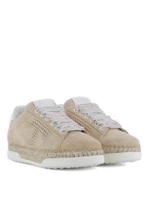 TOD'S: sneakers online - Sneaker in suede con T traforata