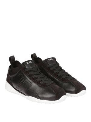 TOD'S: sneakers online - Sneaker basse in pelle e camoscio