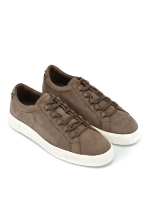 TOD'S: sneakers online - Sneaker in nabuk color nocciola