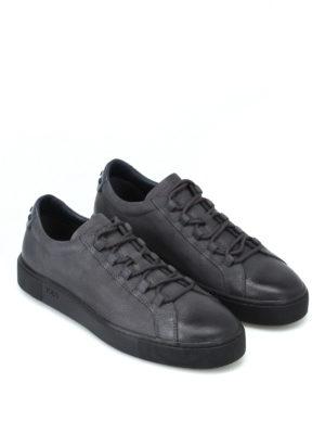 TOD'S: sneakers online - Sneaker in pelle a grana sfumata