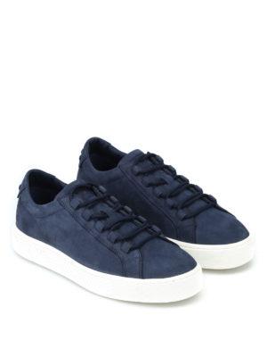 TOD'S: sneakers online - Sneaker in morbido nabuk blu