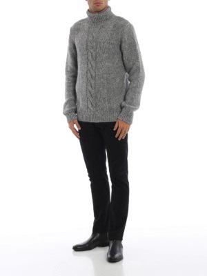 TOD'S: maglia a collo alto e polo online - Dolcevita grigio in misto cotone e alpaca
