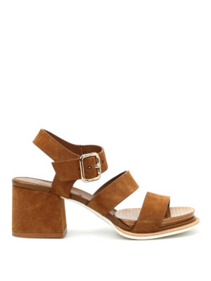 Tod'S: sandals - 19A multi strap suede sandals