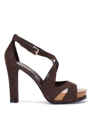 Tod'S: sandals - 21A laser cut suede sandals