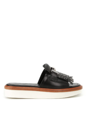 Tod'S: sandals - 23A Double T leather sandals