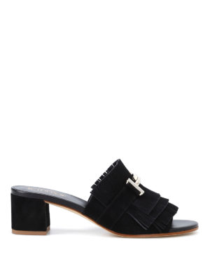 Tod'S: sandals - Double T suede sandals