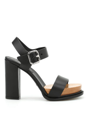 Tod'S: sandals - Leather platform sandals