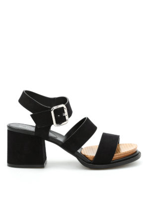 Tod'S: sandals - Multi strap suede sandals