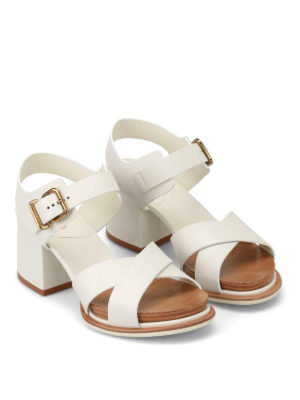 Tod'S: sandals online - 19A white platform sandals
