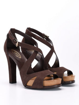 Tod'S: sandals online - 21A laser cut suede sandals