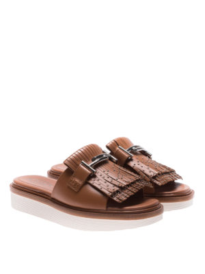 Tod'S: sandals online - 23A Double T detail leather sandals