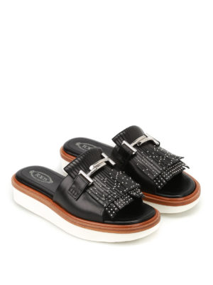 Tod'S: sandals online - 23A Double T leather sandals