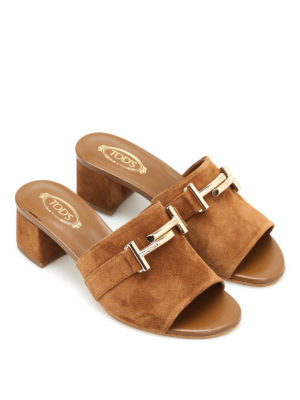 Tod'S: sandals online - 38A double T suede slippers