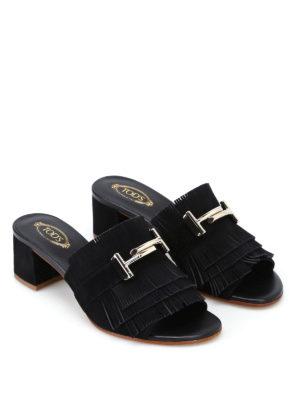Tod'S: sandals online - Double T suede sandals