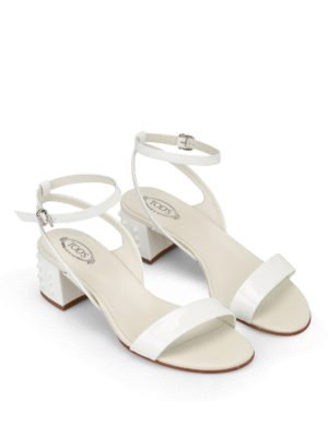 Tod'S: sandals online - Gommini heel patent sandals