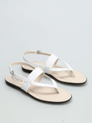 Tod'S: sandals online - Patent leather sandal