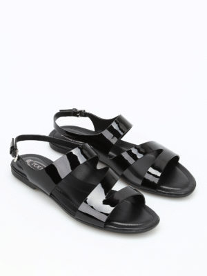 Tod'S: sandals online - Rubberized leather sandals