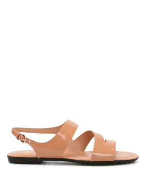 Tod'S: sandals - Rubberized leather sandals