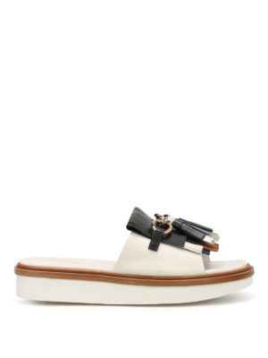 Tod'S: sandals - Slipper-inspired wedge sandals