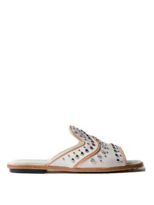 Tod'S: sandals - Studded embellished leather sandals
