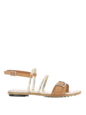 TOD'S: sandali - Sandali piatti bicolori