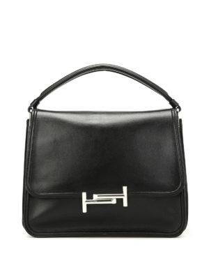 Tod'S: shoulder bags - Black Double T medium shoulder bag