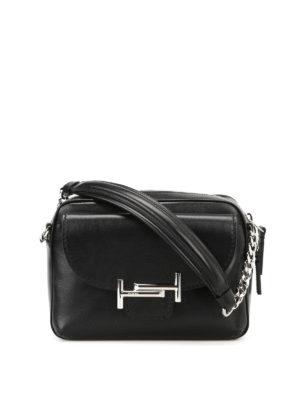 Tod'S: shoulder bags - Black soft leather camera bag