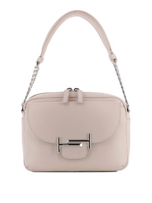 Tod'S: shoulder bags - Double T leather mini camera bag