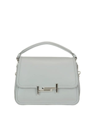 Tod'S: shoulder bags - Double T new grey small bag
