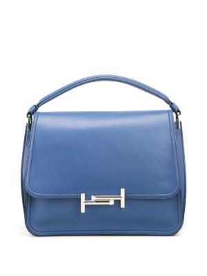 Tod'S: shoulder bags - Double T new small blue messenger