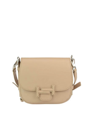 Tod'S: shoulder bags - Double T smooth leather saddle bag