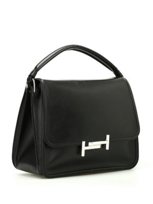 Tod'S: shoulder bags online - Black Double T medium shoulder bag