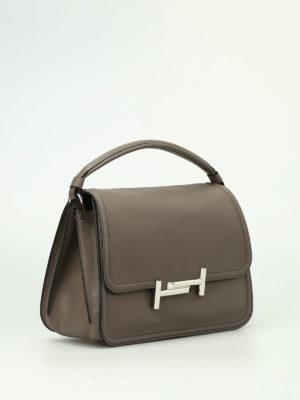 Tod'S: shoulder bags online - Double T grey small shoulder bag
