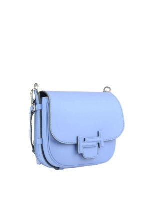 Tod'S: shoulder bags online - Double T light blue saddle bag
