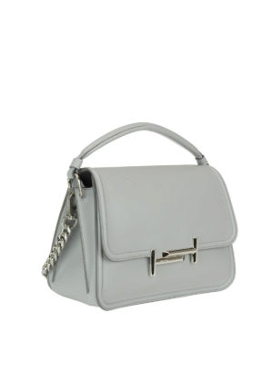 Tod'S: shoulder bags online - Double T new grey small bag
