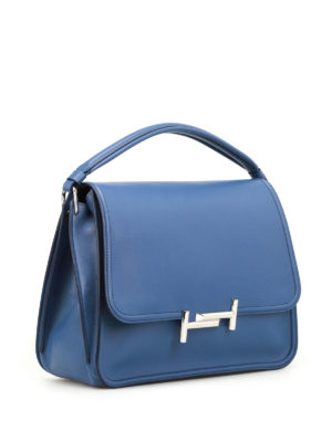 Tod'S: shoulder bags online - Double T new small blue messenger