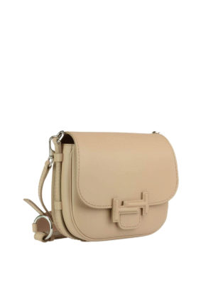 Tod'S: shoulder bags online - Double T smooth leather saddle bag