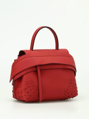 Tod'S: shoulder bags online - Wave red leather mini shoulder bag