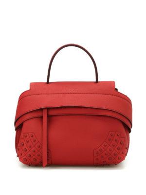 Tod'S: shoulder bags - Wave red leather mini shoulder bag