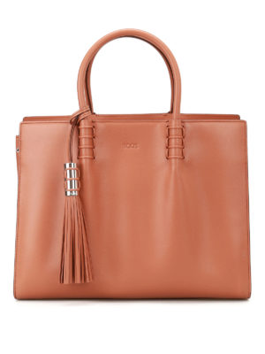 Tod'S: totes bags - Accordion sides leather bag