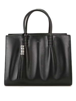 Tod'S: totes bags - Accordion sides leather tote