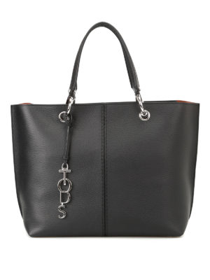 Tod'S: totes bags - Black leather medium tote