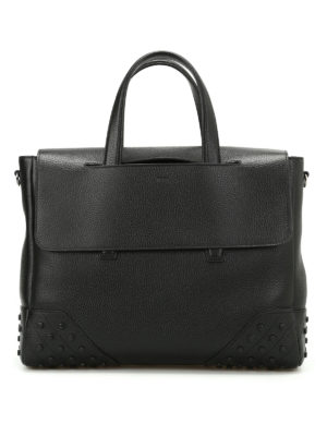 Tod'S: totes bags - Gommini hammered leather tote