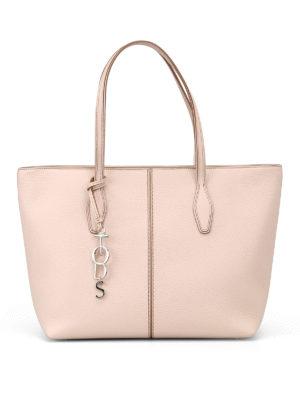 TOD'S: shopper - Shopper Joy Bag in pelle media