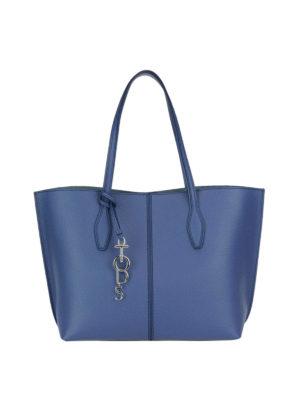 Tod'S: totes bags - Joy blue medium shopping bag