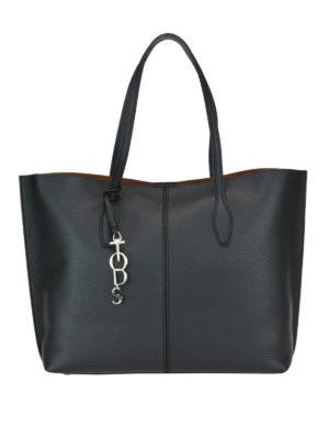 TOD'S: shopper - Shopper Joy grande in pelle nera